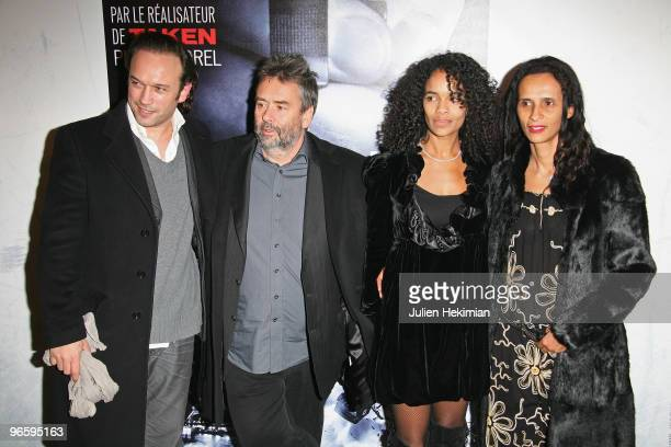 Vincent Perez Luc Besson Virginie Silla and her sister Karine attend 'From Paris with Love' Paris premiere at Cinema UGC Normandie on February 11...