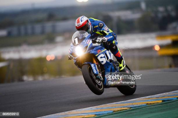 Vincent Philippe riding Suzuki Endurance Racing Team during the 24 Hours of Le Mans 2017 Motorcycle Endurance Race on April 15 2017 in Le Mans France