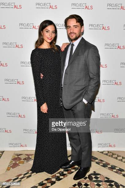 Vincent Piazza and Genesis Rodriguez attend the 19th Annual Project ALS Benefit Gala at Cipriani 42nd Street on October 25 2017 in New York City