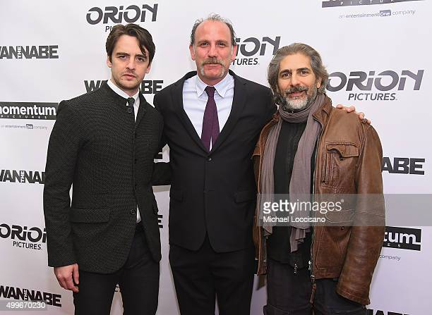 Vincent Piazza Nick Sandow and Michael Imperioli attend The Wannabe New York premiere at Crosby Street Hotel on December 2 2015 in New York City