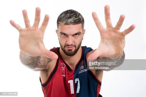 Vincent Poirier, #17 poses during the Kirolbet Baskonia Vitoria Gasteiz 2018/2019 Turkish Airlines EuroLeague Media Day at Fernando Buesa Arena on...