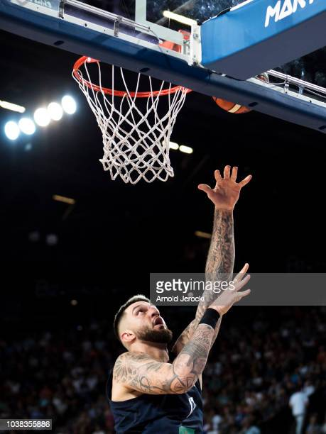 Vincent Poirier from France in action during the FIBA Basketball Wolrd cup 2019 qualifier match between France and Finland at the Sud de France Arena...