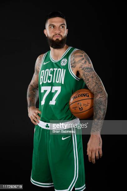 Vincent Poirier of the Boston Celtics poses for a portrait on September 30, 2019 at High Output Studios in Canton, Massachusetts. NOTE TO USER: User...