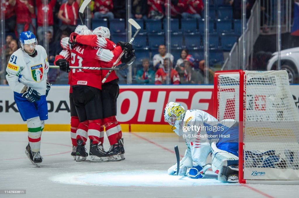 Switzerland v Italy: Group B - 2019 IIHF Ice Hockey World Championship Slovakia : News Photo