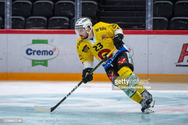 Vincent Praplan of SC Bern in action during the Swiss National League game between Lausanne HC and SCL Tigers at Vaudoise Arena on February 25, 2020...