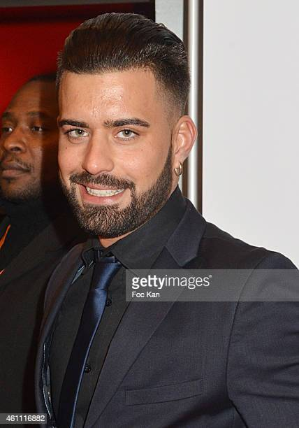Vincent Queijo La Maison Du Bluff 4 attends The 'Lauriers TV Awards 2015 Ceremony' : Red Carpet Arrivals At La Cigale In Paris on January 06, 2015 in...