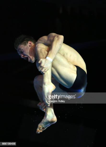 Vincent Riendeau of Canada competes in the Men's 10m SemiA during Day One of the 2017 Canada Cup/FINA Diving Grand Prix at Centre Sportif de Gatineau...