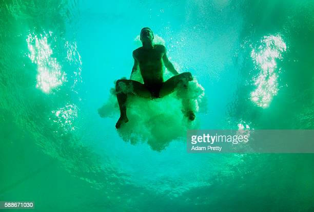 Vincent Riendeau of Canada practices on Day 4 of the Rio 2016 Olympic Games at Maria Lenk Aquatics Centre on August 9 2016 in Rio de Janeiro Brazil