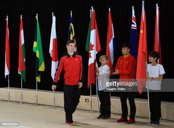 Vincent Riendeau of Canada wins Silver in the Men's 10m Final during Day Three of the 2017 Canada Cup/FINA Diving Grand Prix at Centre Sportif de...