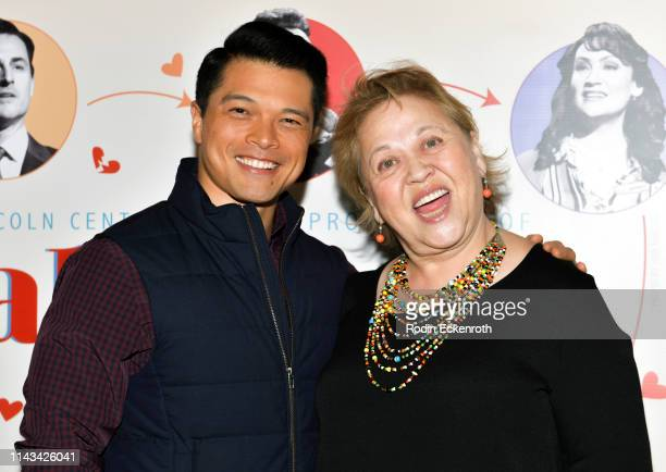 Vincent Rodriguez III and Amy Hill attend the opening of Center Theatre Group's Falsettos at Ahmanson Theatre on April 17 2019 in Los Angeles...