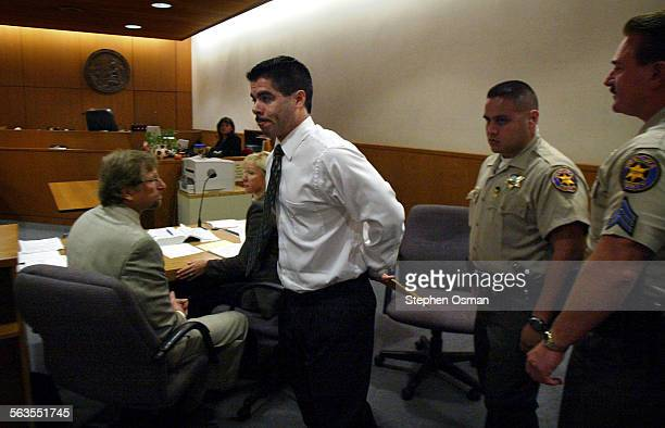 Vincent Sanchez is escorted from the Ventura County Superior courtroom in Ventura after he was sentenced to death and multiple life sentences in the...