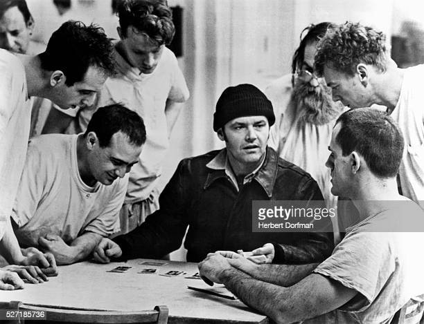Vincent Schiavelli Danny Devito Jack Nicholson and Christopher Lloyd in a scene from the movie One Flew Over The Cuckoo's Nest