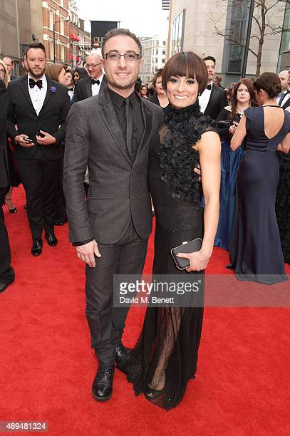 Vincent Simone and Flavia Cacace attend The Olivier Awards at The Royal Opera House on April 12, 2015 in London, England.