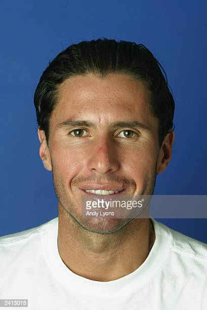 Vincent Spadea of the USA poses for a portrait during the Western and Southern Financial Group Masters at the Linder Family Tennis Center on August...