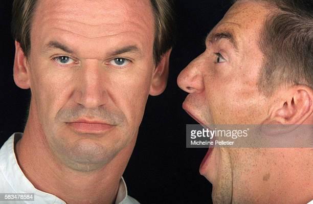 Vincent Taloche screams into Bruno Taloche's ear The Taloche Brothers are a comedy team of brothers Bruno and Vincent Taloche They perform physical...