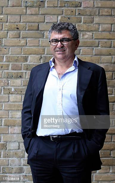 Vincent Tchenguiz, chairman of Consensus Business Group Ltd., poses for a photograph following a Bloomberg Television interview at his offices in...