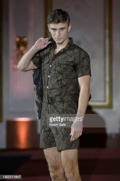 Vincent Testorf walks the runway for the NYFW hiTechMODA Spotlight on the New Era of Fashion - FIGOS Shoe Designer With Fashion Designer Ricardo...