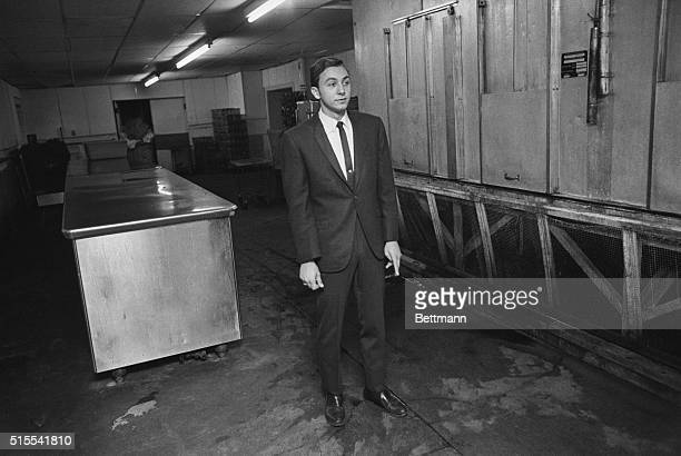 Vincent Thomas DiPierre stands to the left of the spot where Senator Robert Kennedy was shot in the Ambassador Hotel kitchen on June 4th DiPierre...