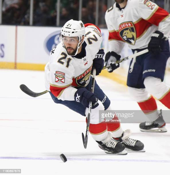 Vincent Trocheck of the Florida Panthers skates against the New York Islanders at NYCB Live's Nassau Coliseum on October 12 2019 in Uniondale New York