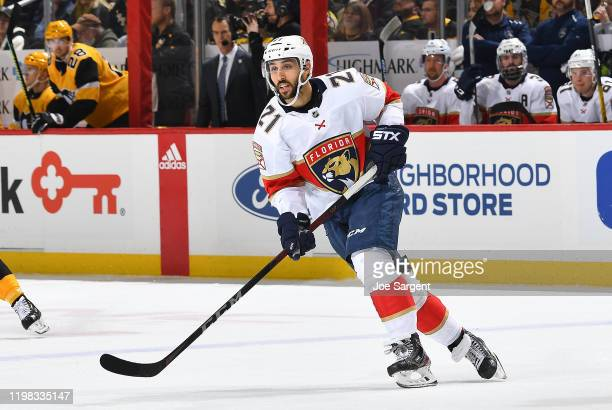 Vincent Trocheck of the Florida Panthers skates against the Pittsburgh Penguins at PPG PAINTS Arena on January 5 2020 in Pittsburgh Pennsylvania