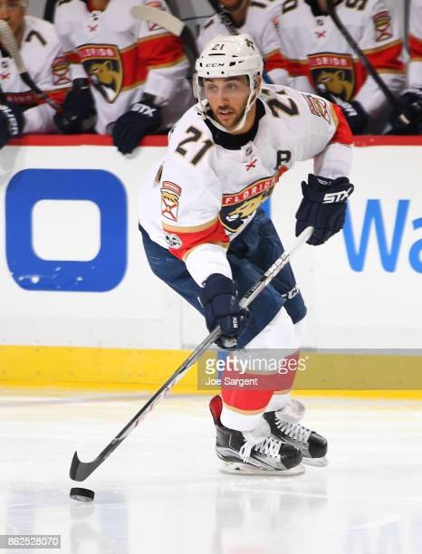 Vincent Trocheck of the Florida Panthers skates against the Pittsburgh Penguins at PPG Paints Arena on October 14 2017 in Pittsburgh Pennsylvania