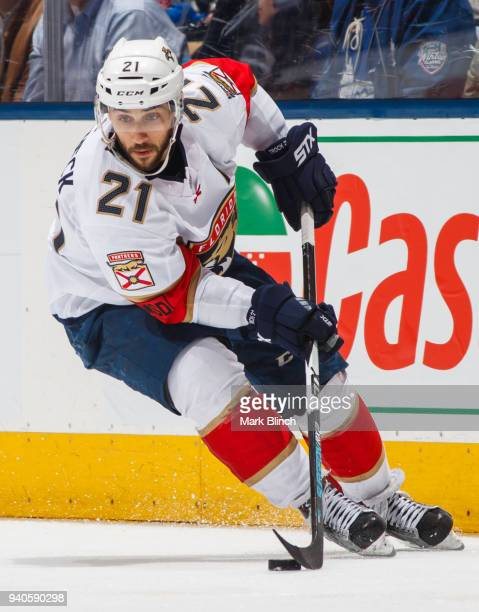 Vincent Trocheck of the Florida Panthers skates against the Toronto Maple Leafs during the third period at the Air Canada Centre on March 28 2018 in...