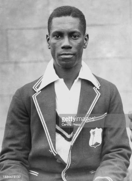 Vincent Valentine from Jamaica and right arm fast bowler for the touring West Indies cricket team circa April 1933.