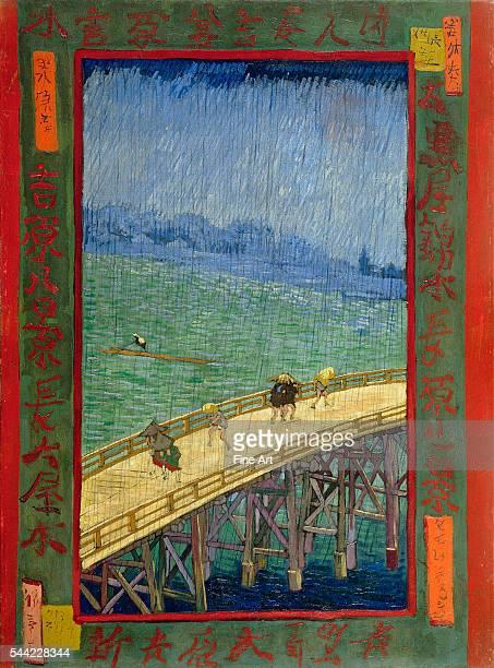 Vincent van Gogh Bridge in the Rain 1887 Oil on canvas 54 x 73 cm Van Gogh Museum Amsterdam Netherlands