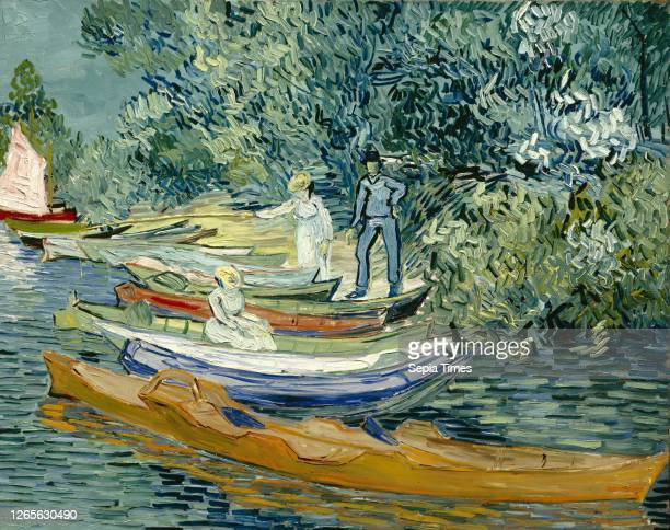 Vincent van Gogh. Dutch. 1853-1890. Bank of the Oise at Auvers. 1890. Oil on canvas. Unframed: 28 × 36 7/8 inches .