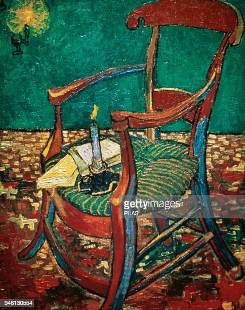 Vincent Van Gogh Dutch artist Gauguin's Chair 1883 Oil Van Gogh Museum Amsterdam Holland