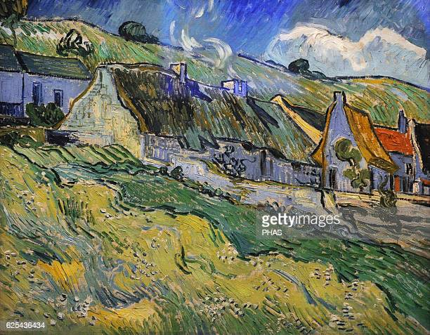 Vincent Van Gogh Dutch PostImpressionist painter Tatched Cottages and houses 1890 Oil on canvas The State Hermitage Museum Saint Petersburg Russia