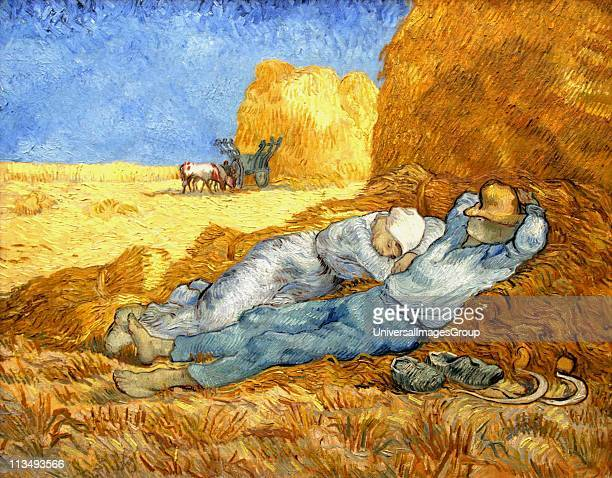 Vincent Van Gogh Dutch postImpressionist painter Van Gogh suffered from mental illness and died from a selfinflicted gunshot wound 'La meridienne'...