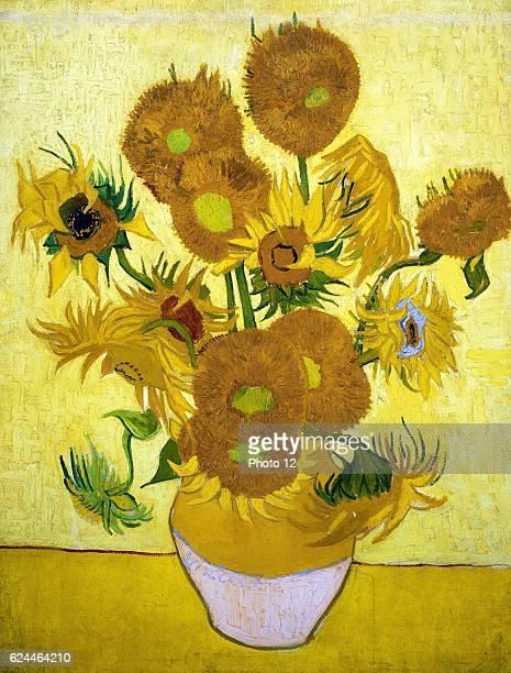 Vincent van Gogh Dutch school Sunflowers 1889 Oil on canvas Amsterdam Van Gogh Museum
