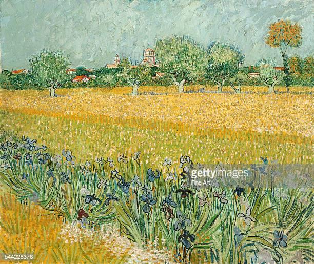 Vincent van Gogh Field with Irises near Arles 1888 Oil on canvas 65 x 54 cm Van Gogh Museum Amsterdam Netherlands   Location near Arles France