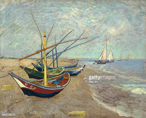 Vincent van Gogh Fishing Boats on the Beach at Les SaintesMariesdelaMer 1888 Oil on canvas 815 x 65 cm Van Gogh Museum Amsterdam Netherlands