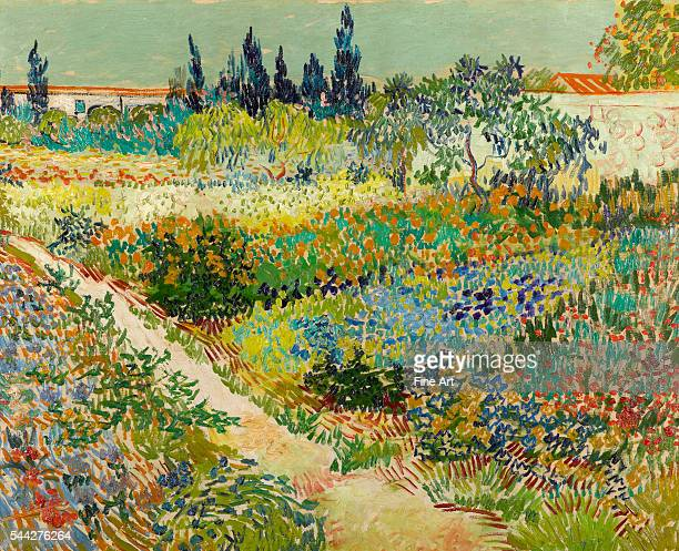 Vincent van Gogh Garden at Arles July 1888 oil on canvas 828 x 102 cm Gemeentemuseum Den Haag The Hague