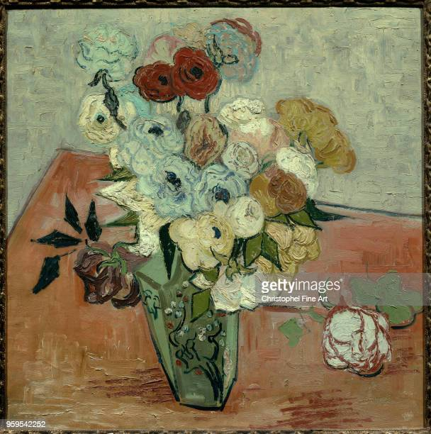 Vincent Van Gogh Rose and Anemones Oil on canvas51 x 052 m Paris Orsay Museum