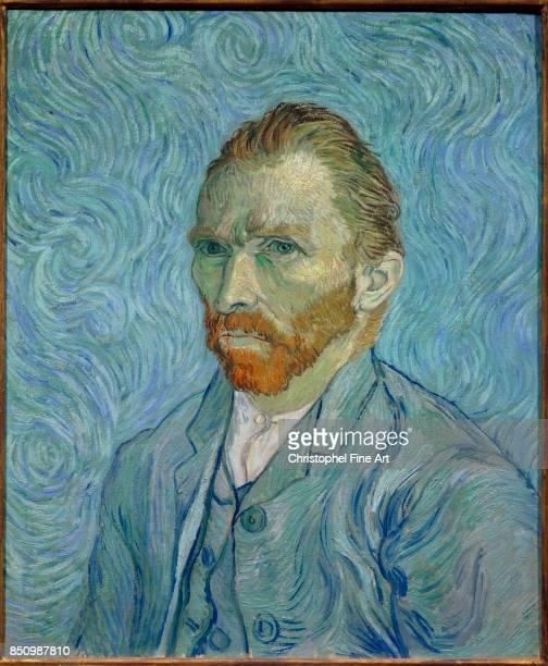Vincent Van Gogh Self portrait 1889 Oil on canvas 065 x 054 m Paris Orsay Museum