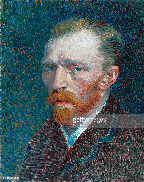 Vincent van Gogh SelfPortrait oil on board 41 X 325 Cm Art Institute of Chicago