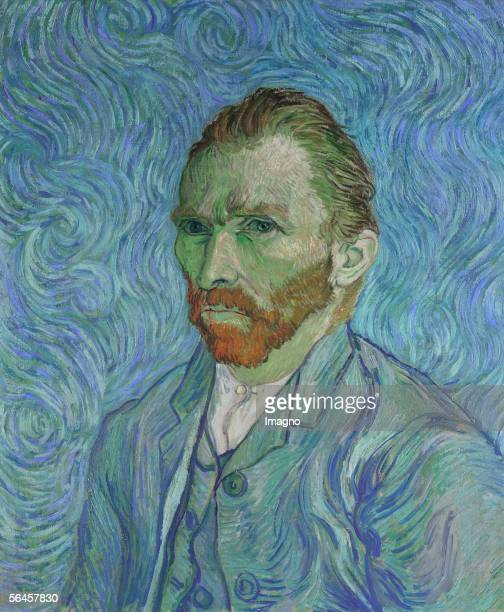 Vincent Van Gogh Selfportrait Oil on canvas 65 x 545 cm [Vincent Van Gogh Selbstportrait Gemaelde 1889]