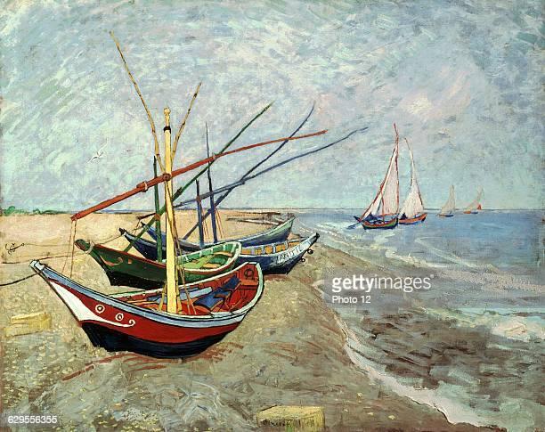 Vincent van GoghDutch schoolFishing Boats on the Beach at Les SaintesMariesdelaMerJune 1888Oil on canvas Amsterdam Van Gogh museum