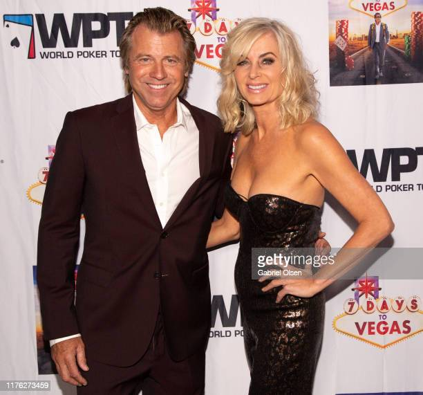Vincent Van Patten and Eileen Davidson arrive for the LA Premiere Of 7 Days To Vegas at Laemmle Music Hall on September 21 2019 in Beverly Hills...