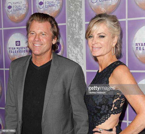 Vincent Van Patten and Eileen Davidson attend the Family Equality Council's Los Angeles awards dinner at The Beverly Hilton Hotel on February 28 2015...