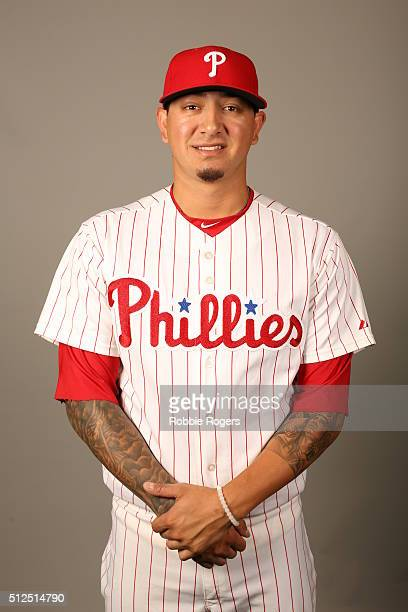 Vincent Velasquez of the Philadelphia Phillies poses during Photo Day on Friday February 26 2016 at Bright House Field in Clearwater Florida