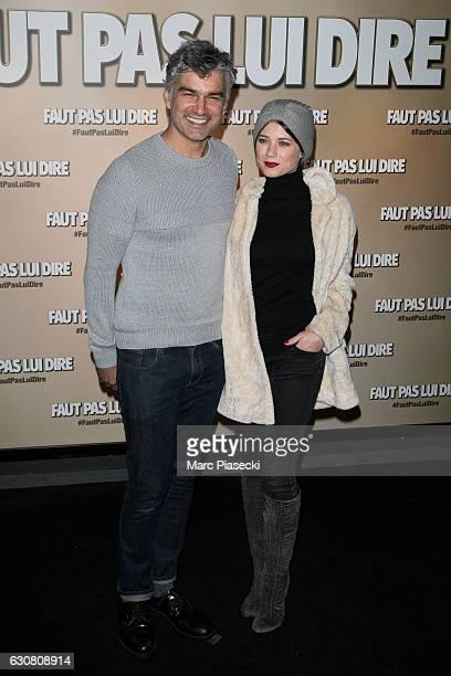 Vincent Vincentelli and Alice Dufour attend 'Faut Pas Lui Dire' Premiere at UGC Cine Cite Bercy on January 2 2017 in Paris France