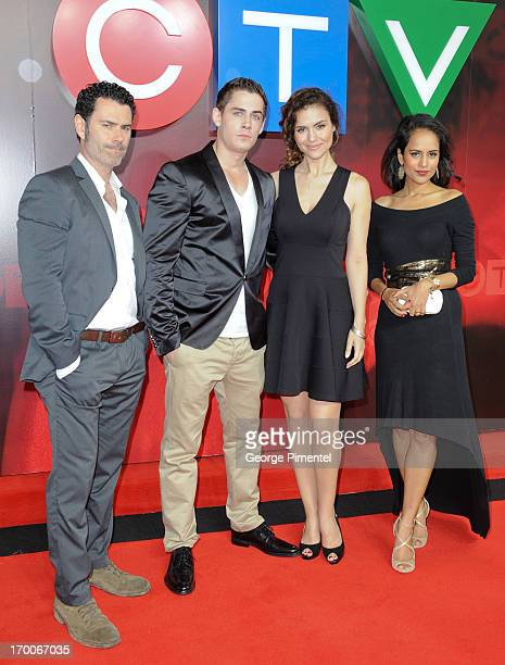 Vincent Walsh, Adam Butcher, Lisa Marcos and Agam Darshi from 'Played' attend CTV Upfront 2013 Presentation at Sony Centre For Performing Arts on...