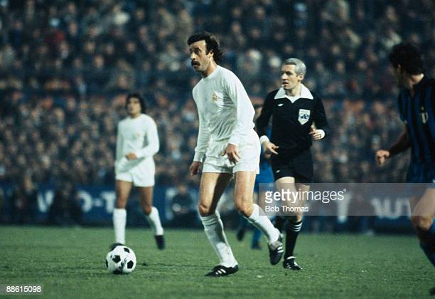 Vincente Del Bosque of Real Madrid during the Inter Milan v Real Madrid UEFA European Cup SemiFinal 2nd leg match played in Milan Italy in 1981