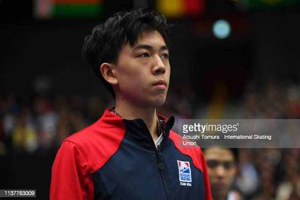 VincentZhou of the United States is seen prior to competing in the Men Free Skating on day four of the 2019 ISU World Figure Skating Championships...