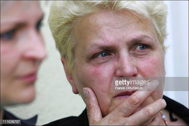 Vincenza Ortolano mother of Graziella Ortolano Xavier Flactif companion on First day of the trial of David Hotyat and four other accomplices in the...