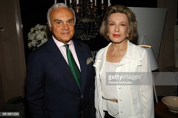 Vincenzio PerezSoto and Bela Behrena attend Book Signing for Carolina Herrera at Nathan Turner on October 20 2005 in West Hollywood CA